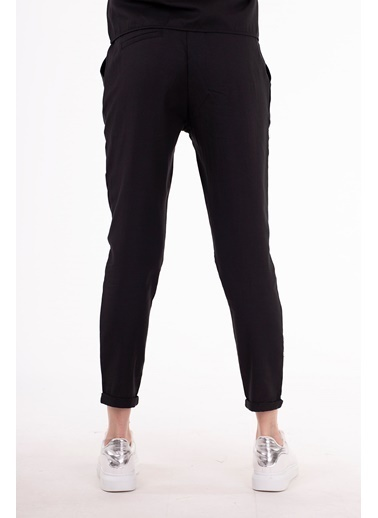 Stamina  Bayan Cepli Bağcıklı Düz Pantolon-Siyah 4PN1501 Siyah